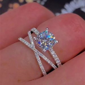 New 18k white gold/Stamped 925 W sapphire